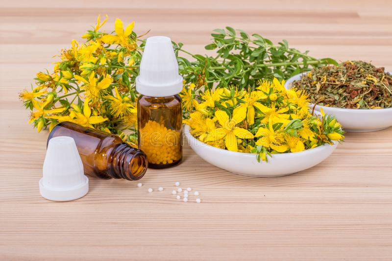 Remedio homeopático foto de archivo libre de regalías