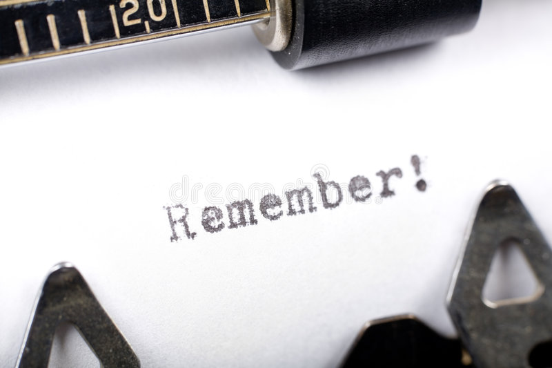 Download Remember stock image. Image of letters, information, fashioned - 3547577