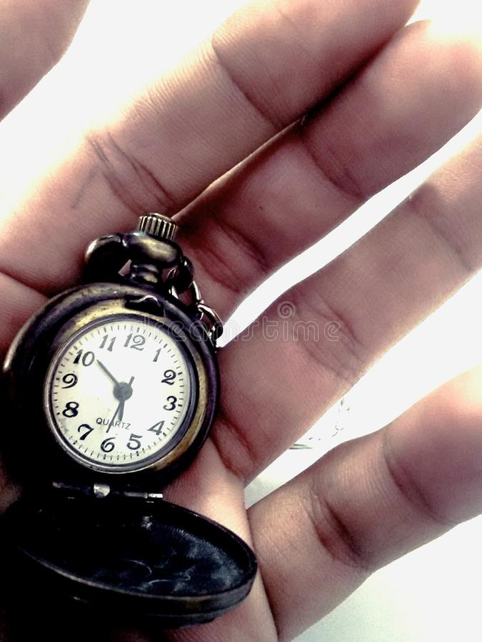 Remember the time. Old style watch but give some antic art royalty free stock photos