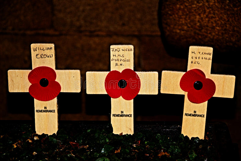 Rememberance Sunday Poppy day. Remembrance Sunday is the second Sunday in November, the Sunday nearest to 11 November. Remembrance Sunday sees special events and royalty free stock image
