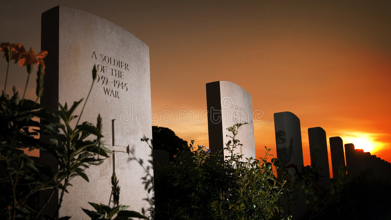 Remembering the war dead. Not forgetting those who died in exchange for our freedom stock images
