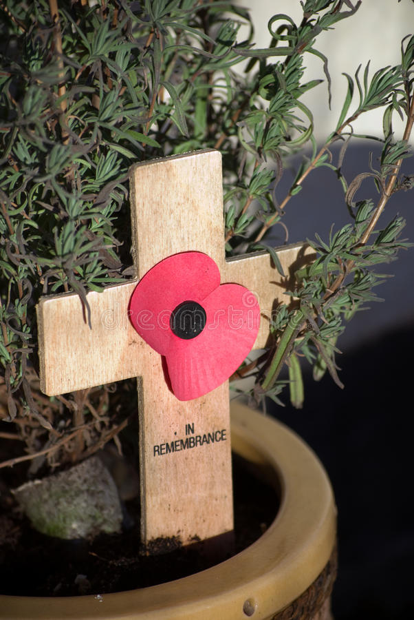 Download Remembrance Crucifix. stock image. Image of peace, poppy - 17893869