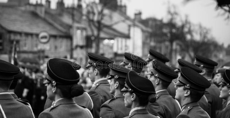 Remembrance Day. Skipton. United Kingdom. 11.11.2018. Remembrance Sunday 2018. Skipton 11.11.2018 REMEMBRANCE Day in Skipton on Sunday was attended by hundreds royalty free stock image