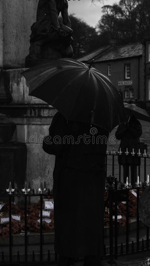 Remembrance Day. Skipton. United Kingdom. 11.11.2018. Remembrance Sunday 2018. Skipton 11.11.2018 REMEMBRANCE Day in Skipton on Sunday was attended by hundreds royalty free stock images