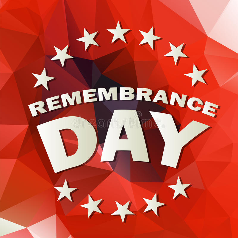 Remembrance day vector royalty free illustration