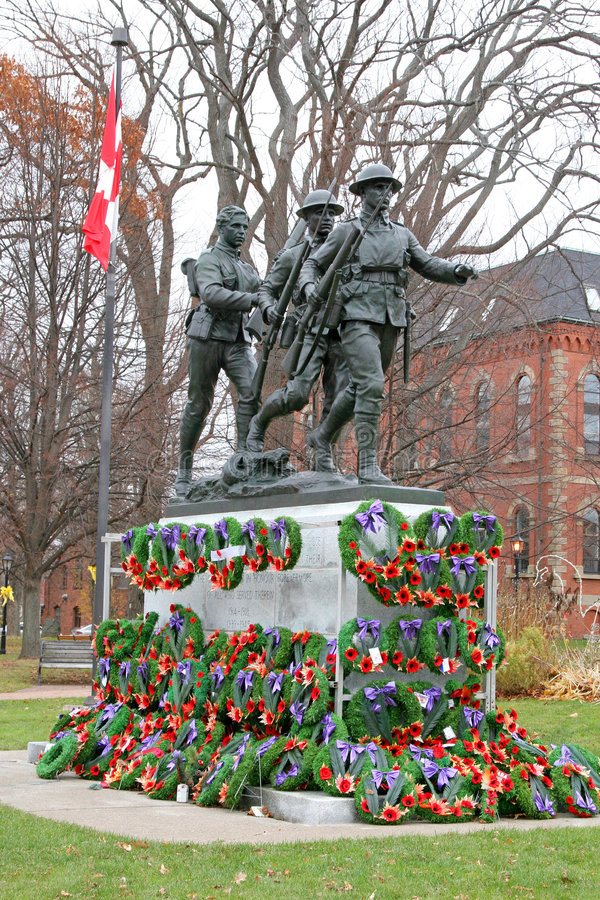 Download Remembrance Day Wreaths stock image. Image of soldiers - 6823341