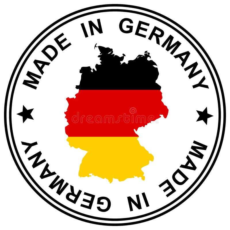 Remendo feito em Alemanha ilustração royalty free