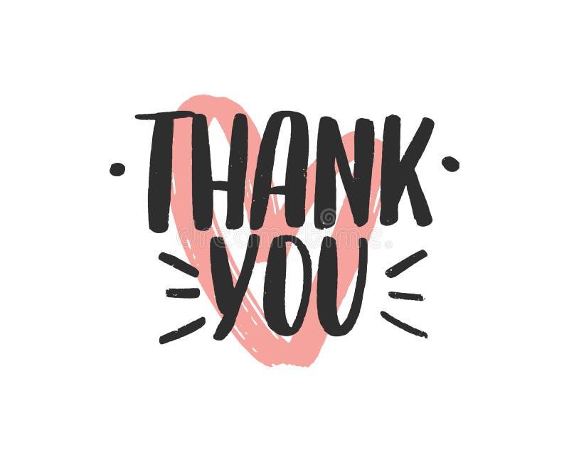 Remerciements inscription en lettres blanches vectorielles. Gratitude et remerciements illustration stock