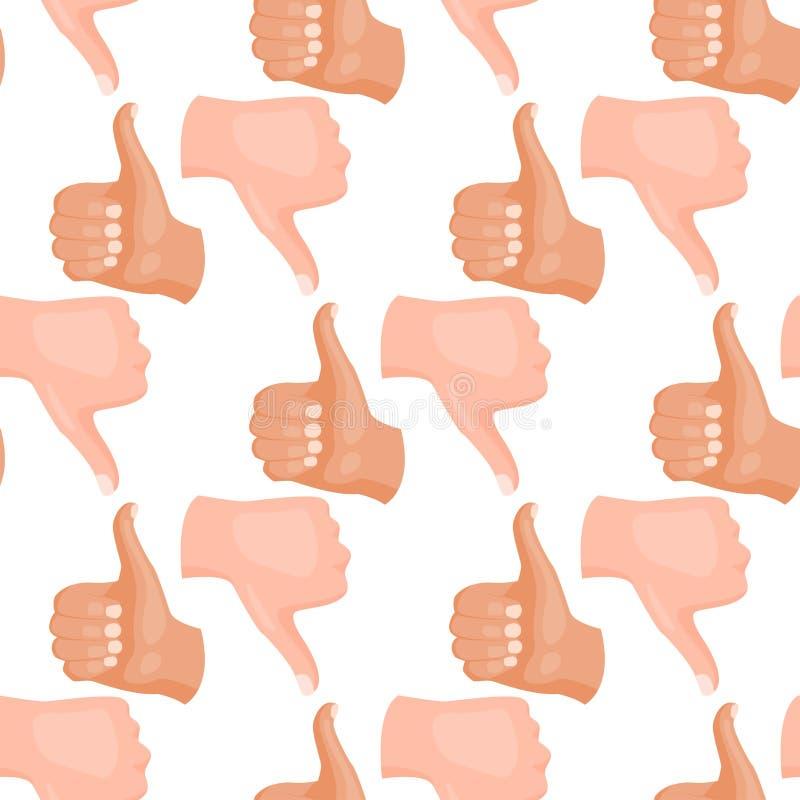 Remet à des gestes sans couture sourds-muets de fond de modèle l'illustration humaine de vecteur de message de communication de p illustration de vecteur