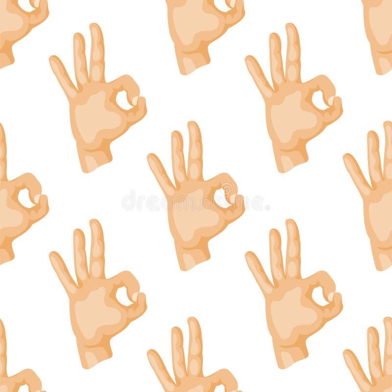 Remet à des gestes sans couture sourds-muets de modèle l'illustration humaine de vecteur de message de communication de personnes illustration stock