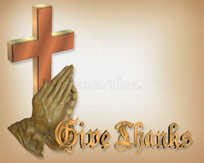 remet l'action de grâces de prière illustration stock