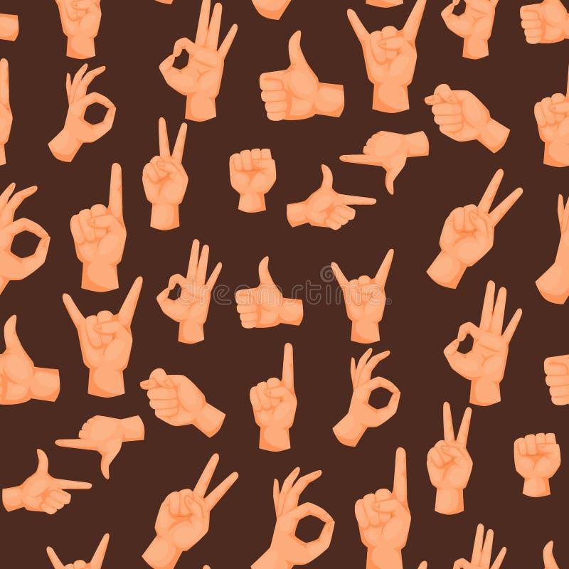 Remet l'humain sourd-muet de gestes dirigeant des personnes de bras faisant des gestes le message de communication vecteur sans c illustration libre de droits