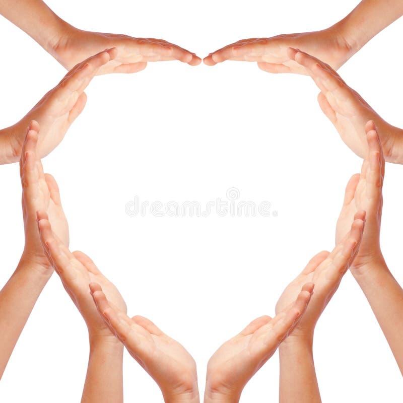 remet le coeur effectuant la forme image libre de droits