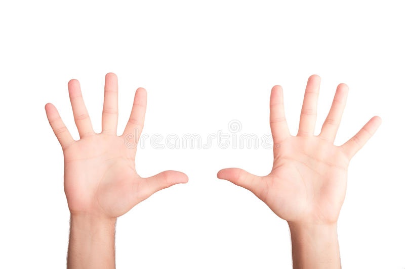 Remet le concept gesturing image stock