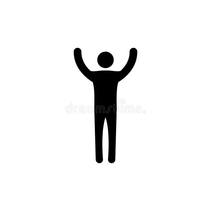 remet son homme vers le haut Concept de victoire Symbole de vecteur photos libres de droits