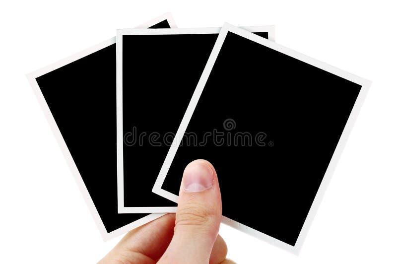 Remettez à fixation les photos blanc photos stock