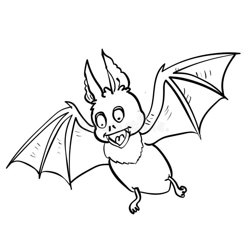 Remettez la bande dessinée de chauve-souris de dessin pour le concept de Halloween - dirigez Illustrat illustration stock