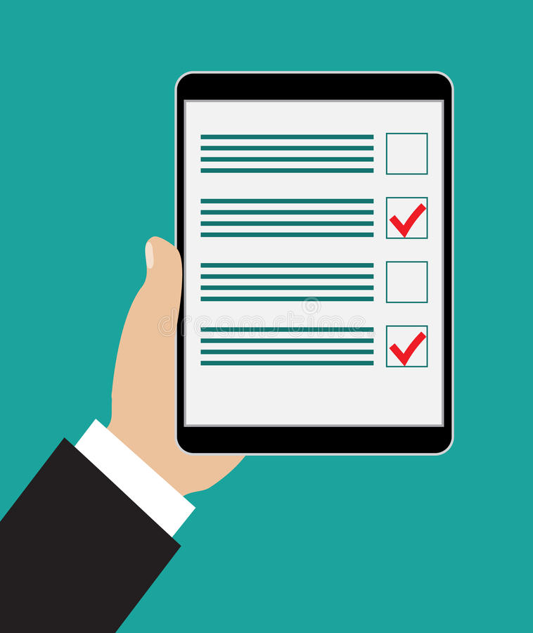 Remettez la tablette de fixation illustration libre de droits