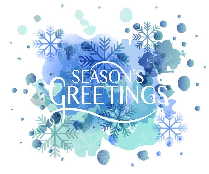 Remettez le logotype des salutations de la saison esquissée, l'insigne et le typogr d'icône illustration de vecteur