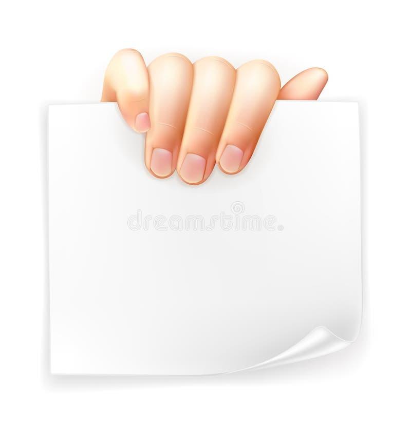 Remettez le papier de fixation illustration de vecteur