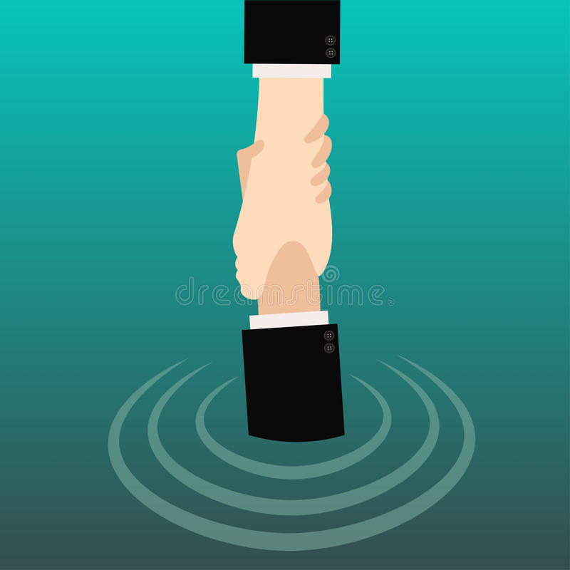 Remettez tenir la main pour l'aide et espérez de l'eau images stock