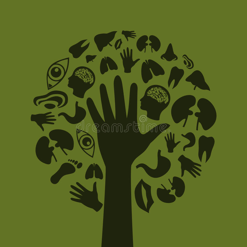 Remettez un tree3 illustration stock