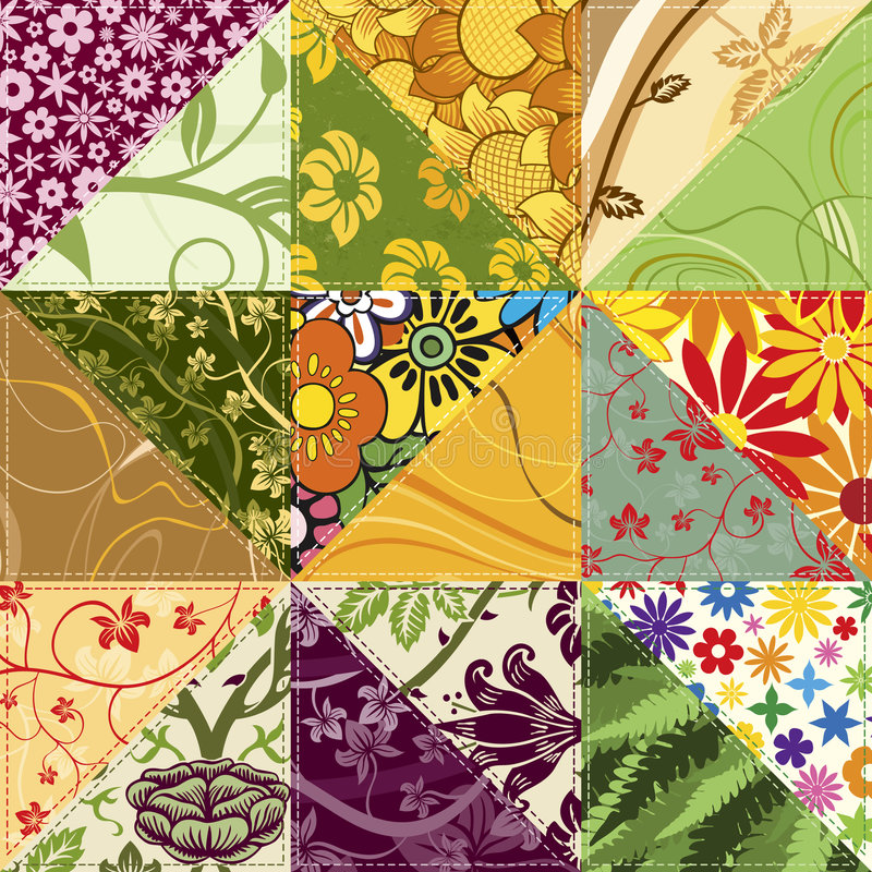 Remiendo de la flor libre illustration