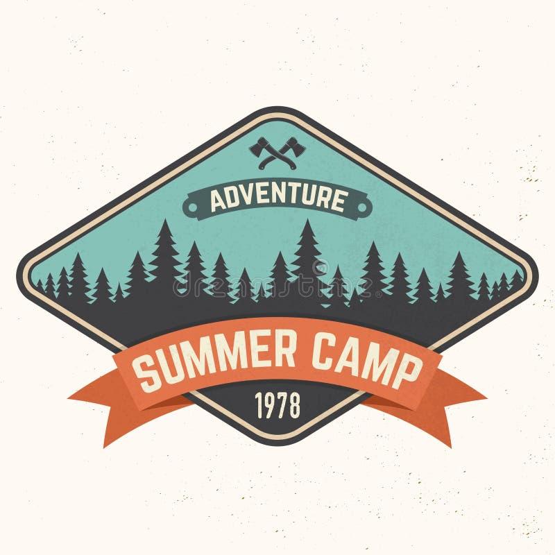 Remiendo del campamento de verano Ilustración del vector Concepto para la camisa o logotipo, impresión, sello o camiseta ilustración del vector