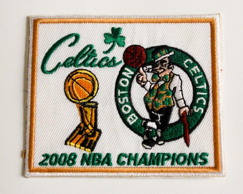 Remiendo 2008 del campeonato de los Celtics de Boston. imagen de archivo