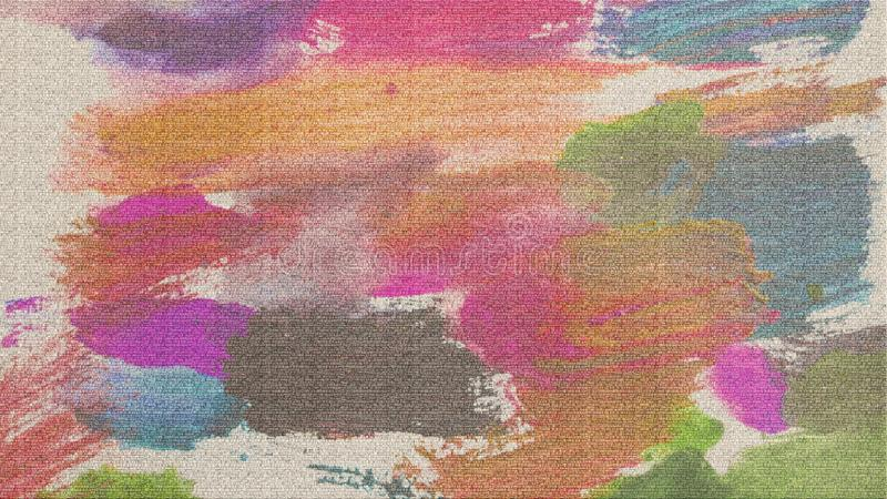 Remiendos de acrílico en lona Papel digital texturizado Bueno para el cartel, temas, grunge mira ilustración del vector