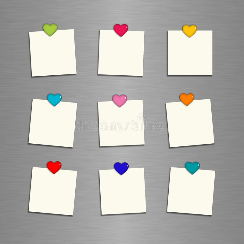 Reminder cards with hearts royalty free illustration
