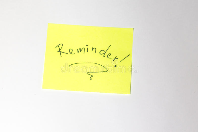 Reminder Motivational post-it. Motivational post-it with gradient background stock photography