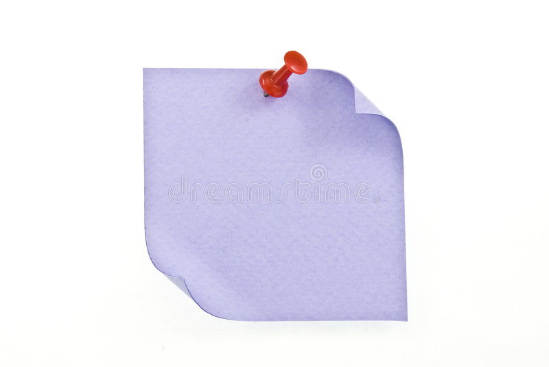 Download Reminder note with red pin stock image. Image of announcement - 8536351