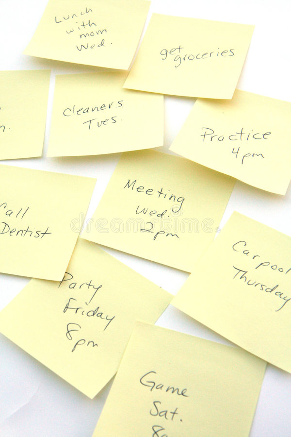 Download Reminder Notes stock photo. Image of notes, post, yellow - 1722142