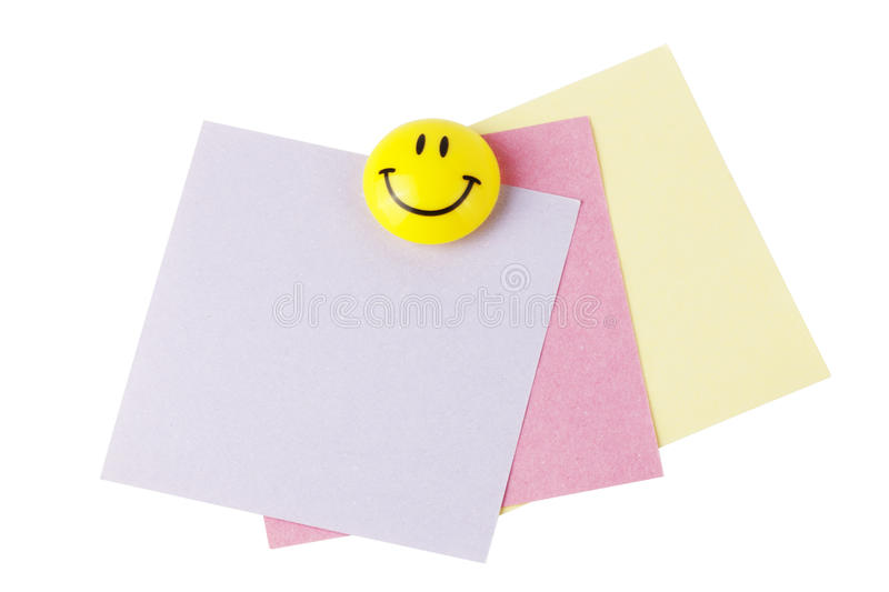 Reminder Papers With Smiley Stock Photos