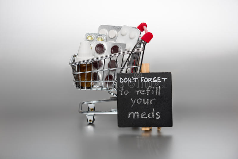 Reminder to refill the meds royalty free stock photo