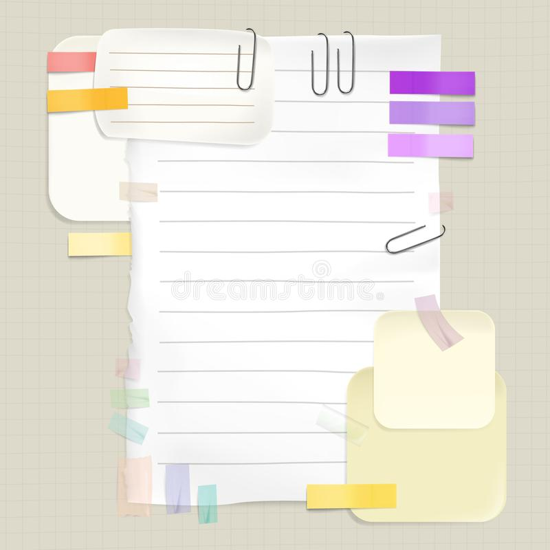 Reminders and sticky notes vector illustration royalty free illustration