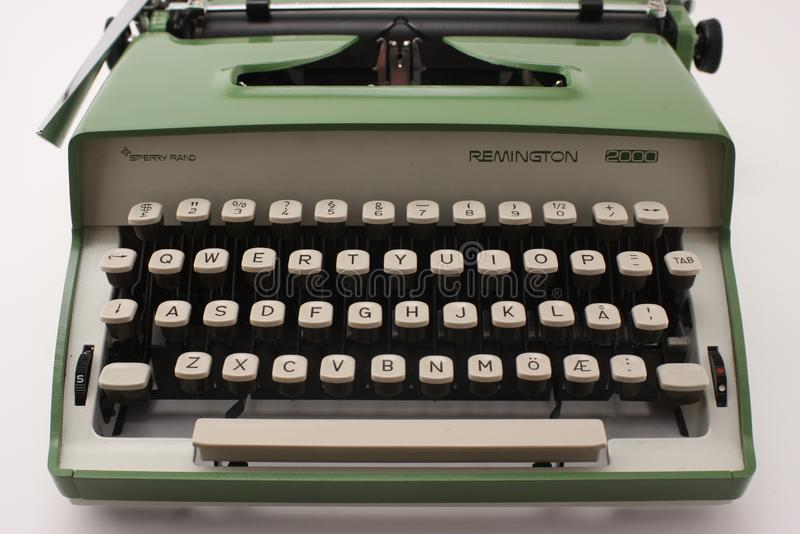 Remington 2000 Typewriter sperry rand front view stock photography