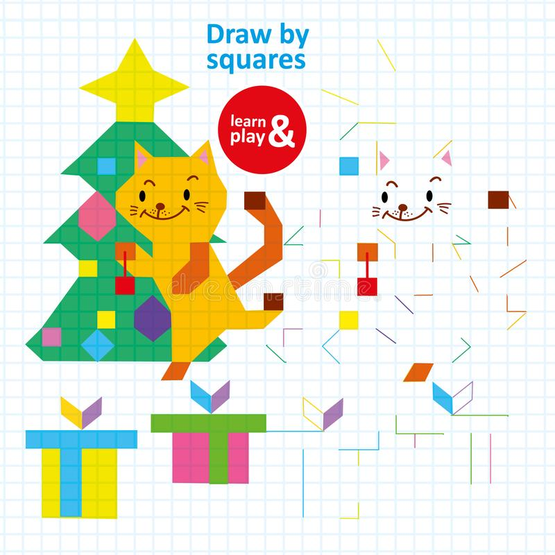 Remis Obciosuje dziecka Barwi Printable Wektorową grę ilustracji