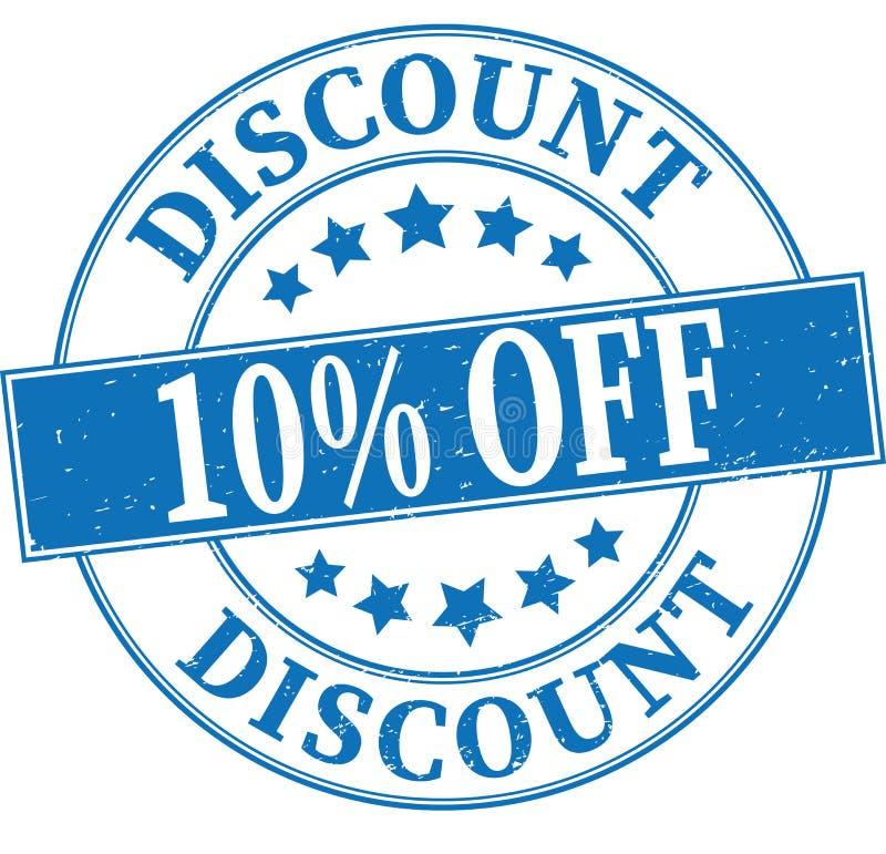 Remise bleue 10% outre d'illustration ronde sale de tampon en caoutchouc illustration stock