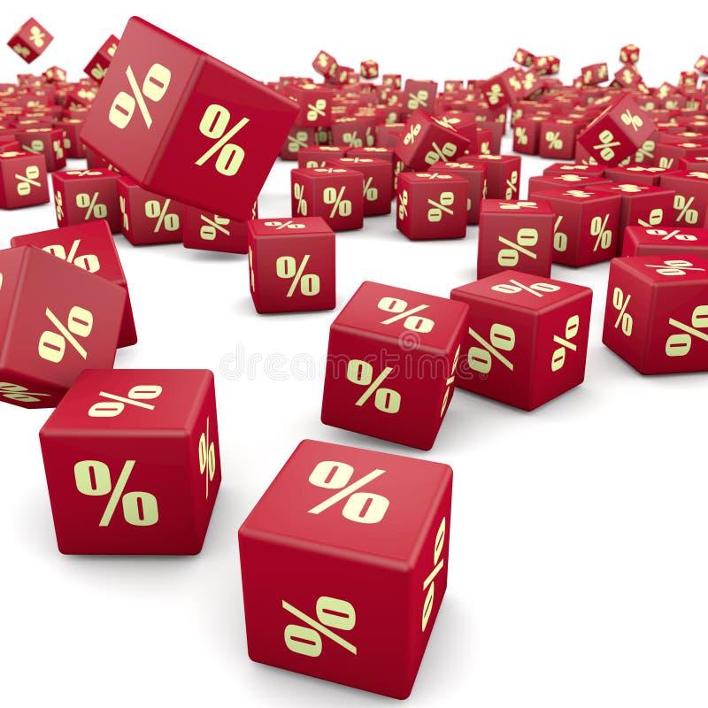 remise 3d et cubes rouges illustration libre de droits