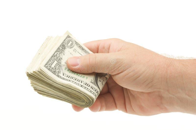 Remise de l'argent images stock