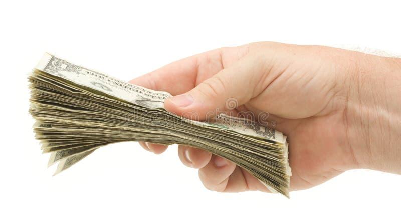 Remise de l'argent photo stock