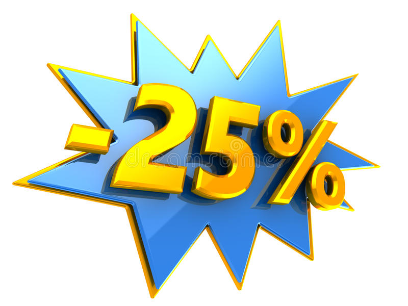 remise de 25 pour cent illustration libre de droits