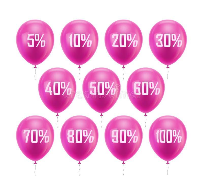 Remise rose de ballon illustration de vecteur