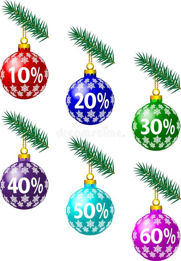 Remises de Noël illustration stock