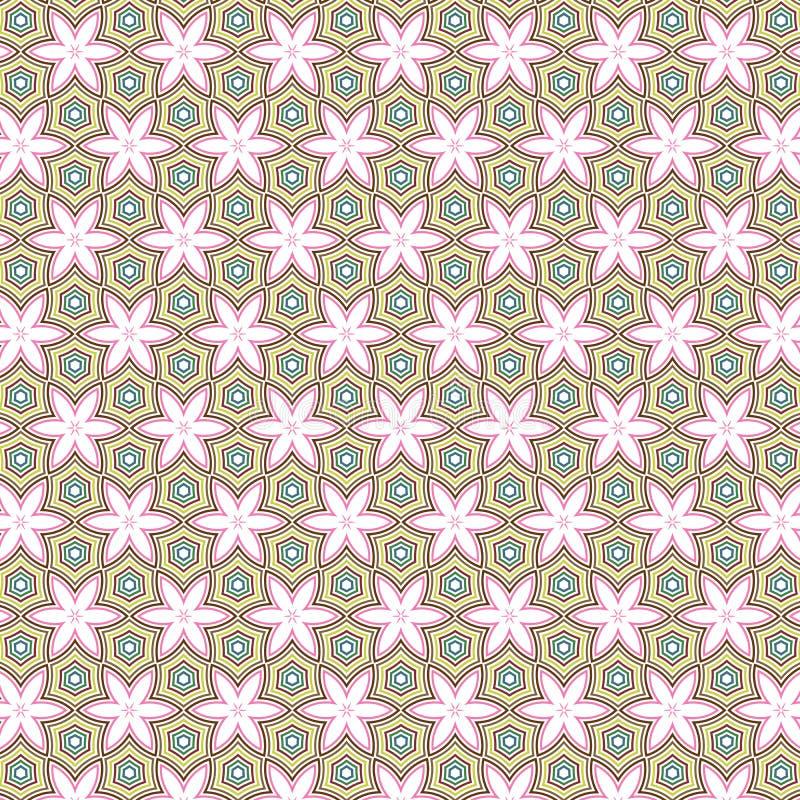 Remisu kwiatu gwiazd wzoru Abstrakcjonistycznej tkaniny Ilustracyjny Bezszwowy Deseniowy tło ilustracji