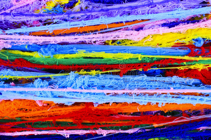 Remnant of cloth. Rainbow colour remnant of cloth royalty free stock photos