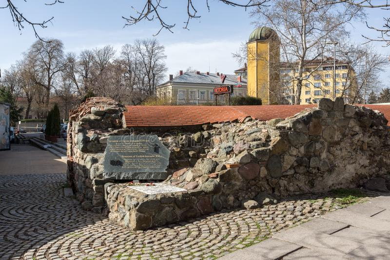 Remnants of sixteenth century Turkish barracks in Sofia, Bulgaria. SOFIA, BULGARIA - MARCH 17, 2018: Remnants of sixteenth century Turkish barracks in Sofia stock image
