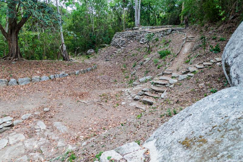 Remnants of a village of indigenous Kogi people. Remnants of houses of indigenous Kogi people in Tayrona National Park, Colombia royalty free stock photography